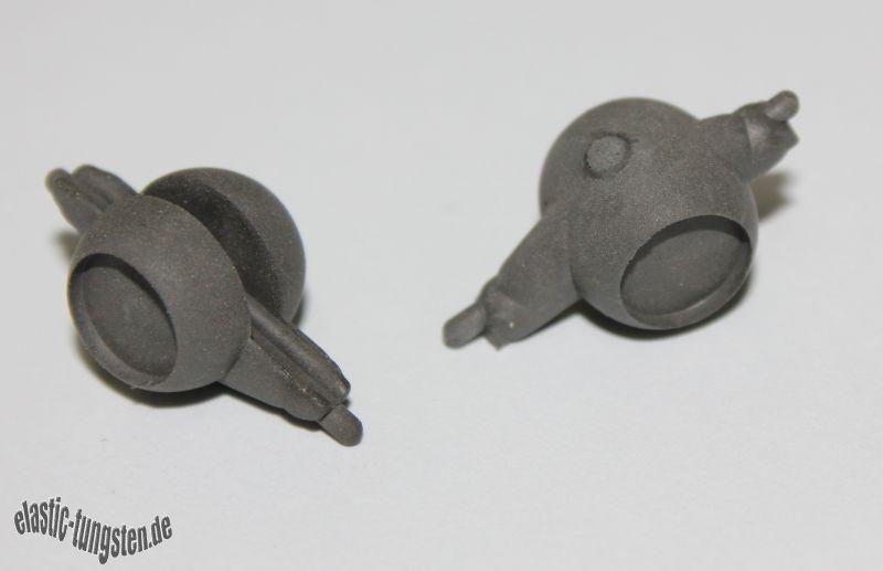 Jigköpfe aus Elastic-Tungsten, mit Augenmulde