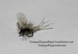 Eintagsfliegenflügel aus Kunststoff - schwimmend